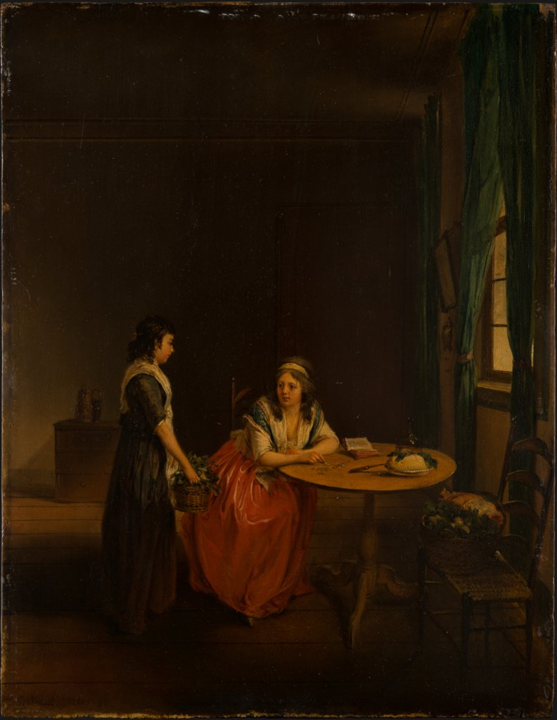 A Housewife Settling Up with her Maid, Georg Karl Urlaub