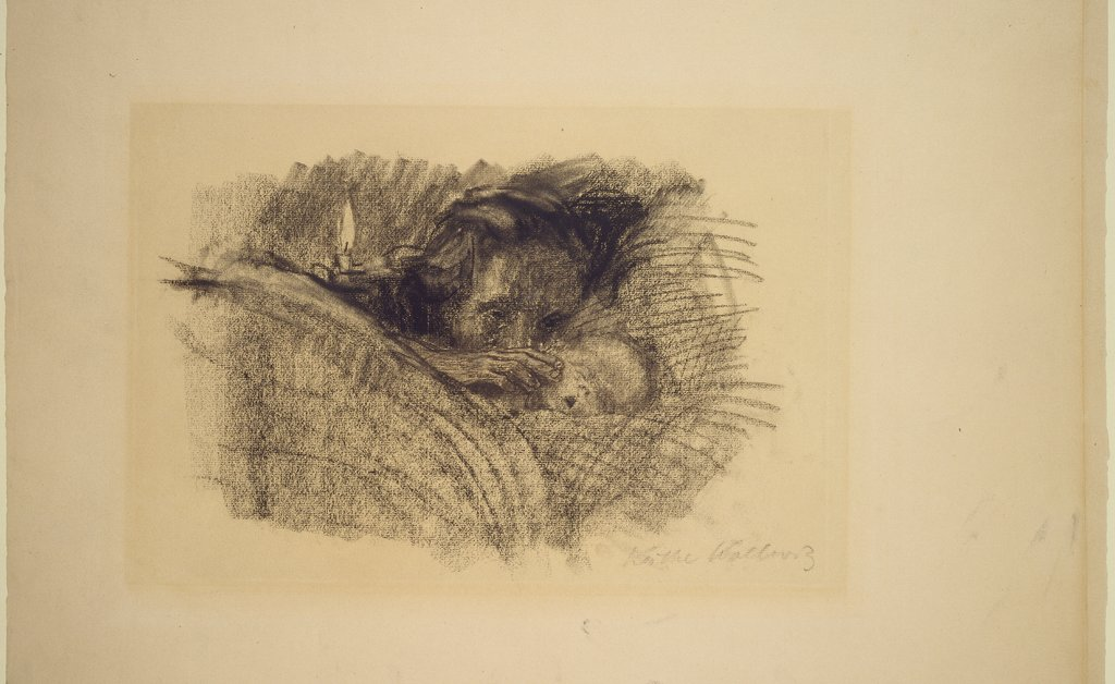 Mutter am Bett des toten Kindes, Käthe Kollwitz