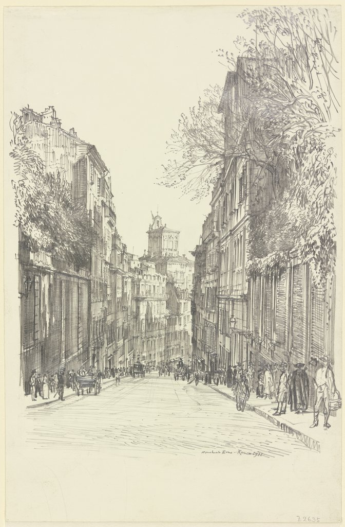 Via Capo le Case, Rome, Muirhead Bone