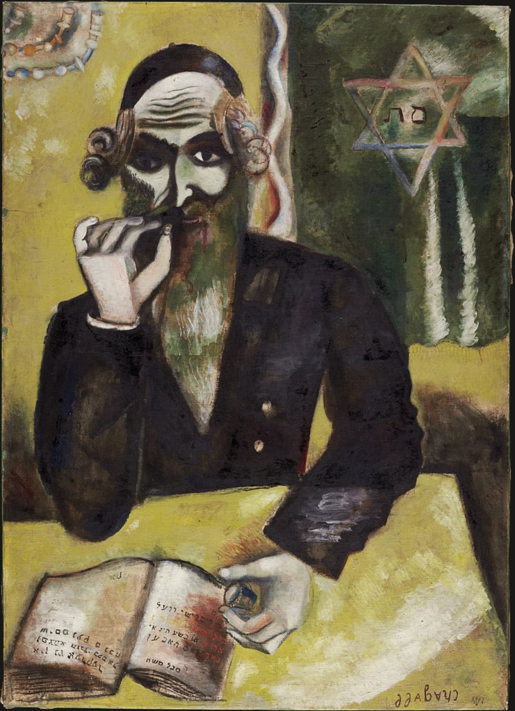 One says (On dit); The Rabbi, Marc Chagall