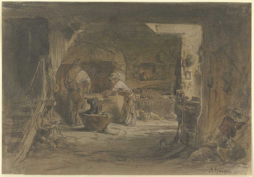 Village forge, Anton Burger