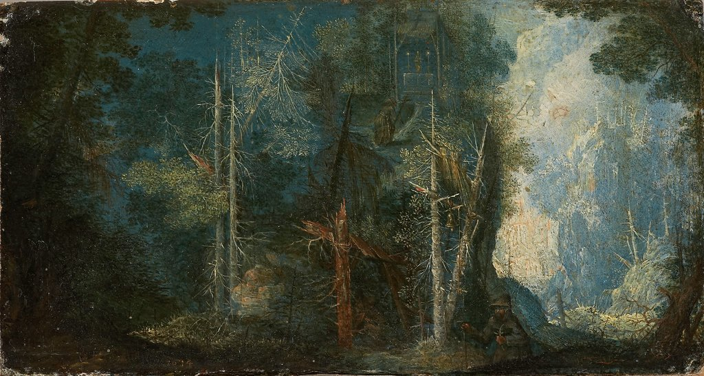 Woodland Scenery with Hermitage, Pieter Stevens