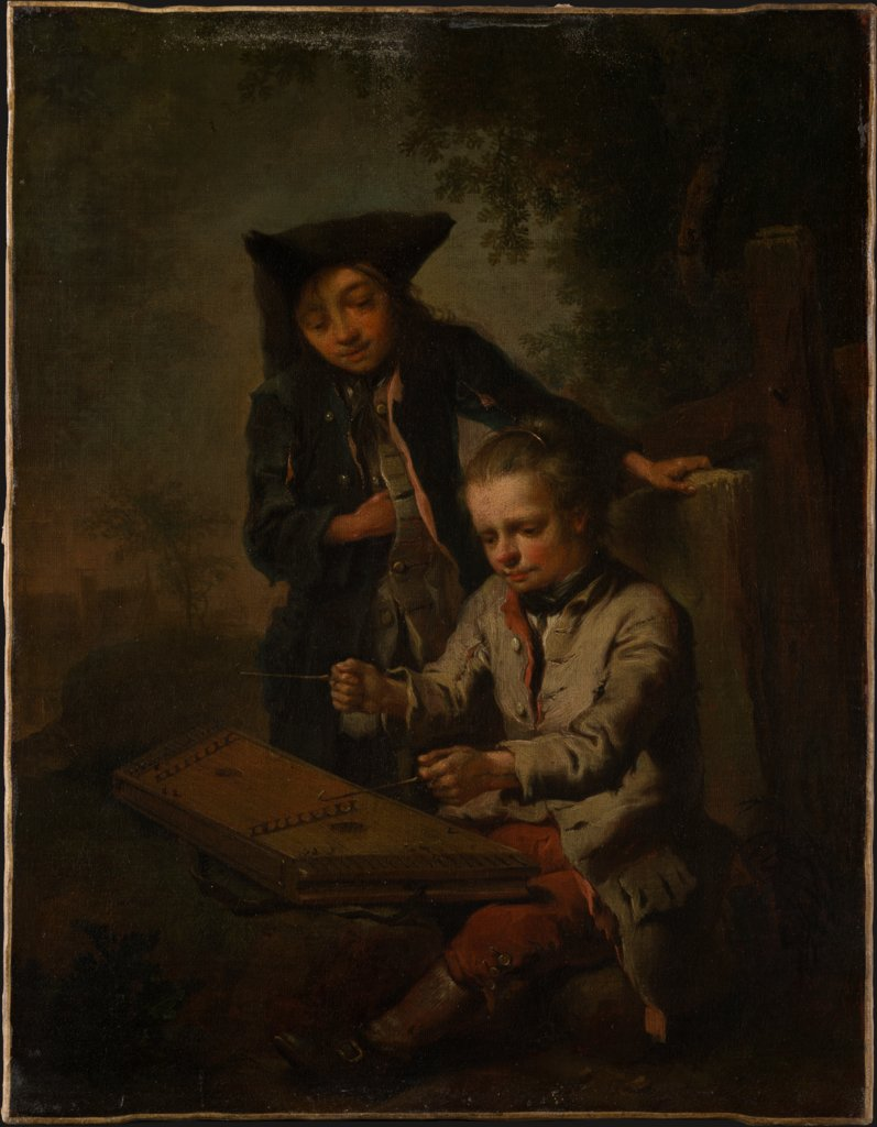 Two Boys, One of Them Playing the Dulcimer, Johann Conrad Seekatz