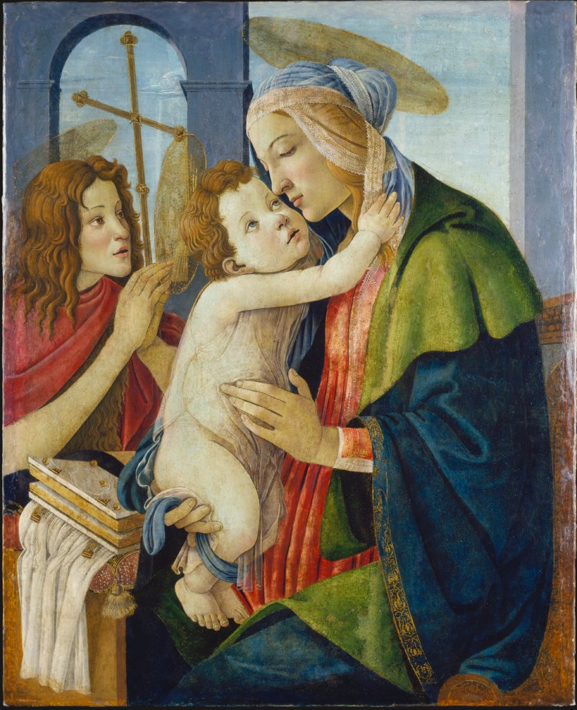 Madonna and Child with the Infant St. John, Sandro Botticelli  workshop