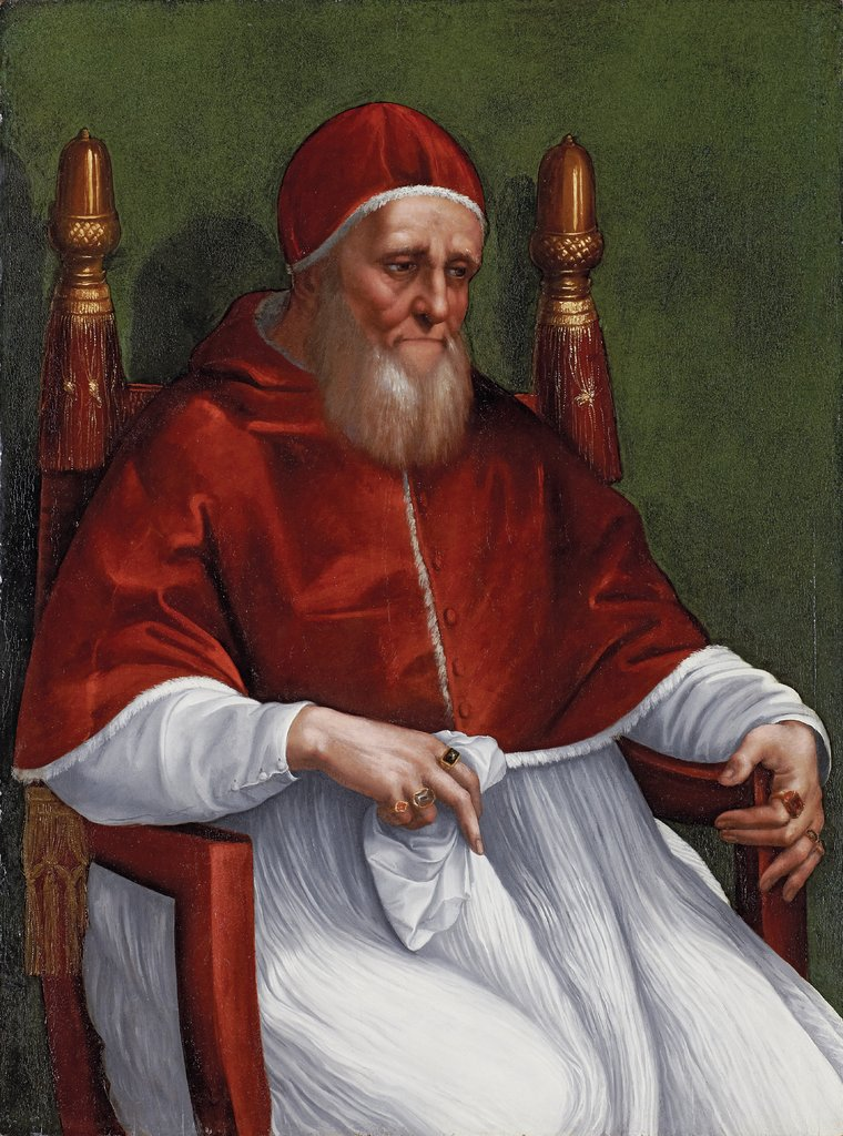 Portrait of Pope Julius II, Raphael  and workshop