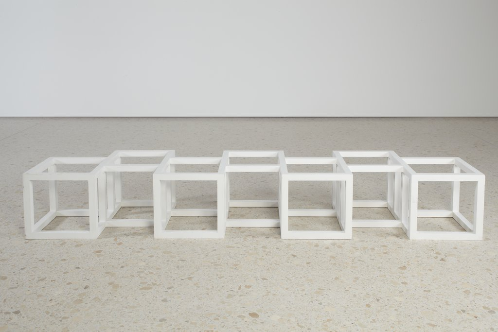 Maquette for Seven Cubes Half Off, after Sol LeWitt