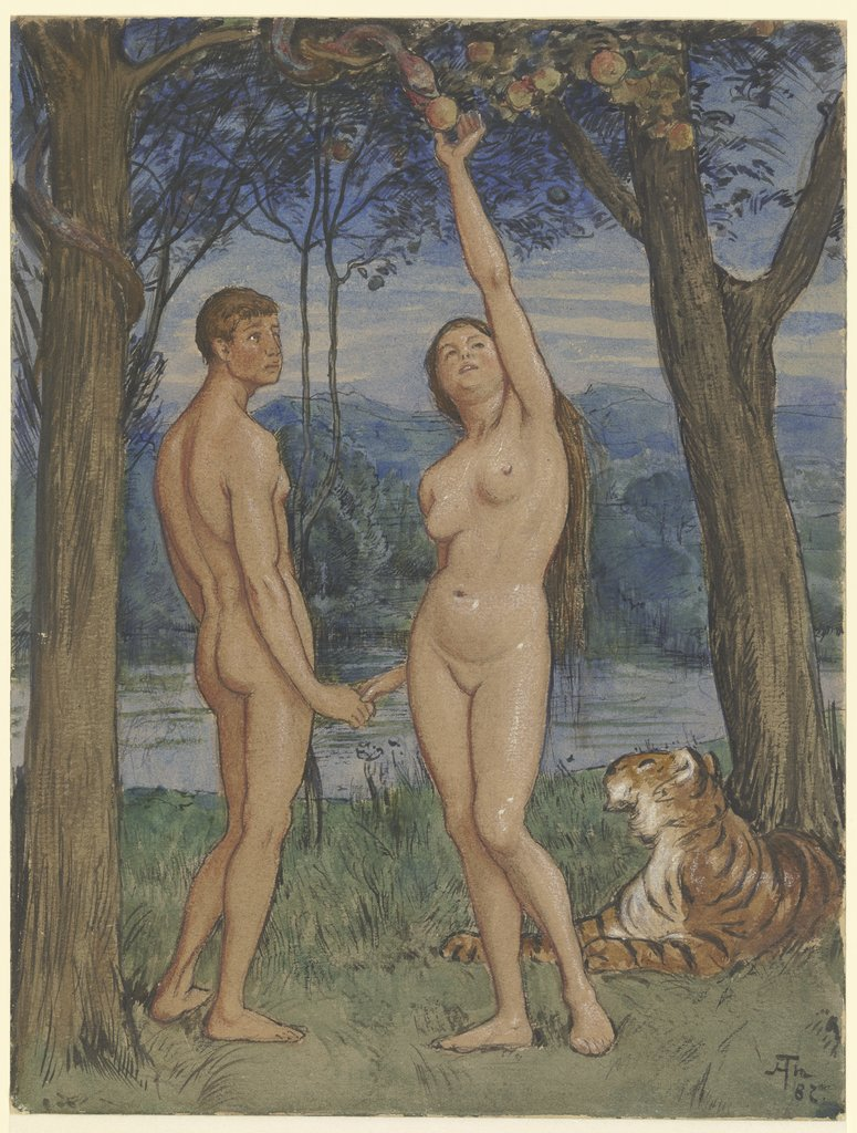 Adam and Eve, Hans Thoma