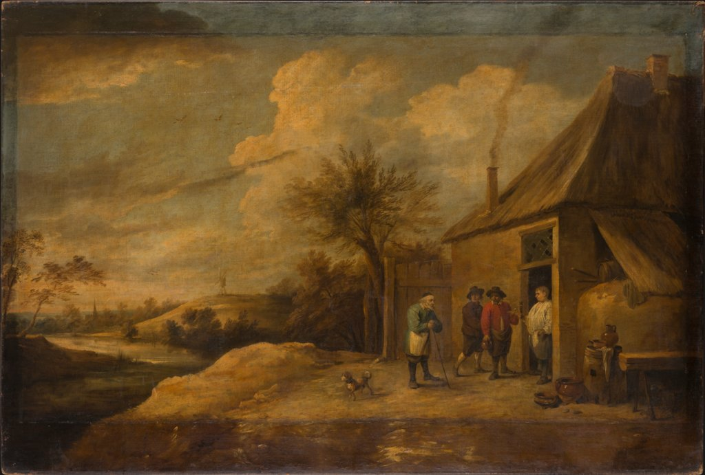Landscape with Inn at a River, David Teniers the Younger  school