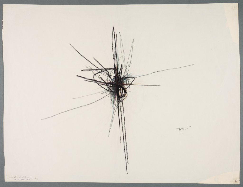 Zentrale Kruzifikation Blind überzeichnet, Arnulf Rainer