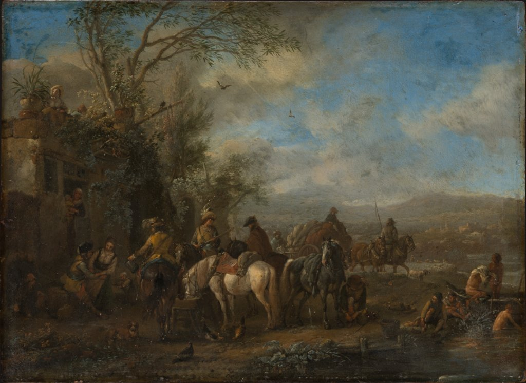 Armed Riders in Front of an Inn, Philips Wouwerman