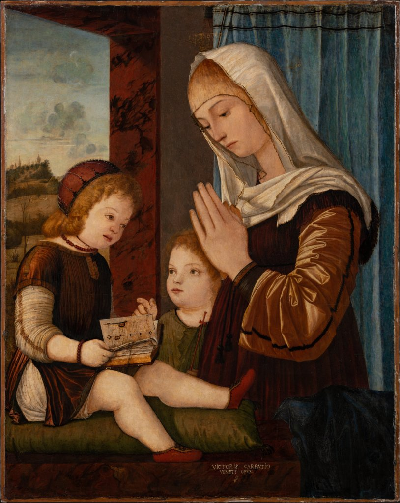 Madonna and Child with the Infant St. John, Vittore Carpaccio