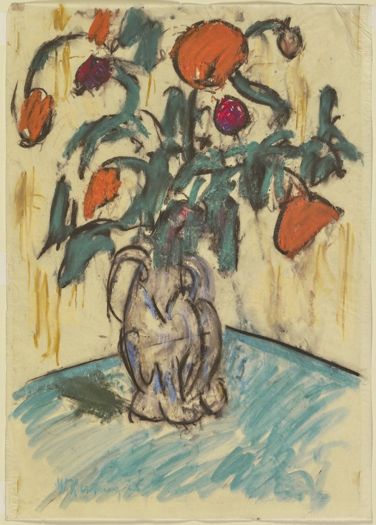 Vase with flowers, Wilhelm Kesting