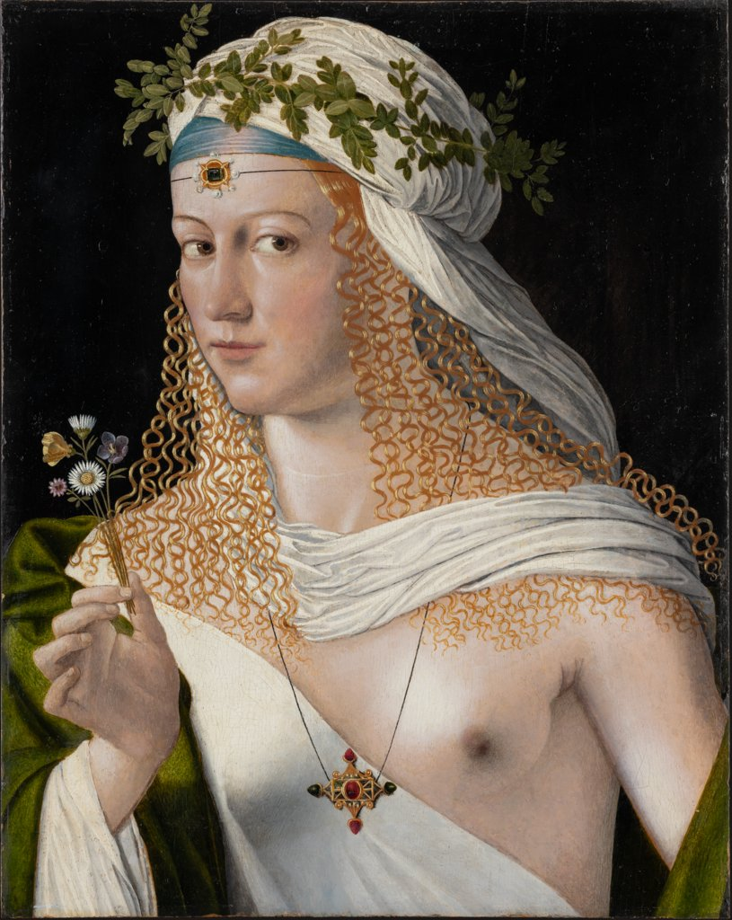 Idealised Portrait of a Young Woman as Flora, Bartolomeo Veneto