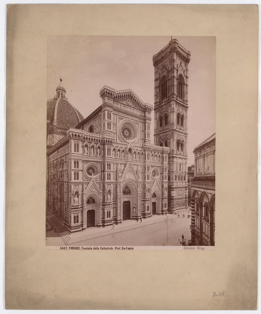 Florence: Facade of the Cathedral, No. 5407, Giacomo Brogi