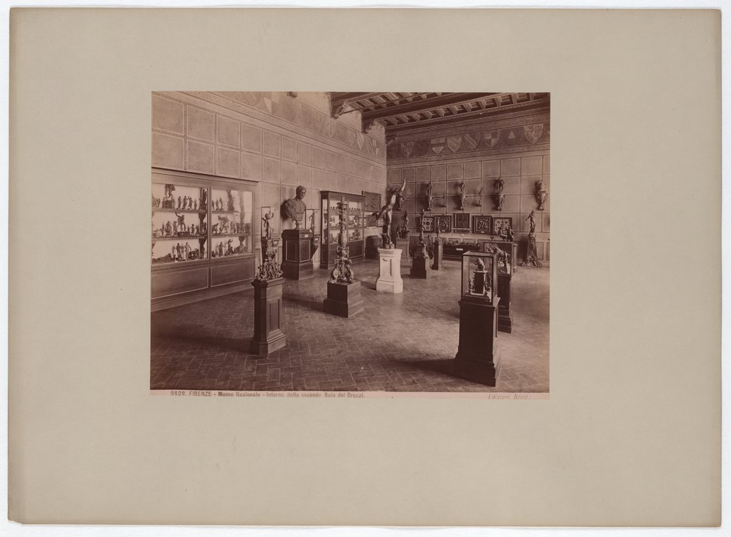 Florence: National Museum, Interior of the second Bronze Room, No. 9429, Giacomo Brogi