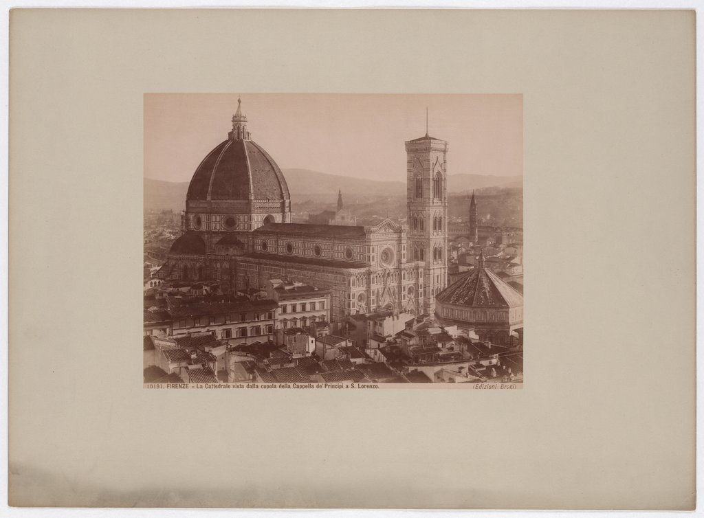 Florence: The Cathedral seen from the dome of the Cappella de'Principi in S. Lorenzo, No. 10191, Giacomo Brogi