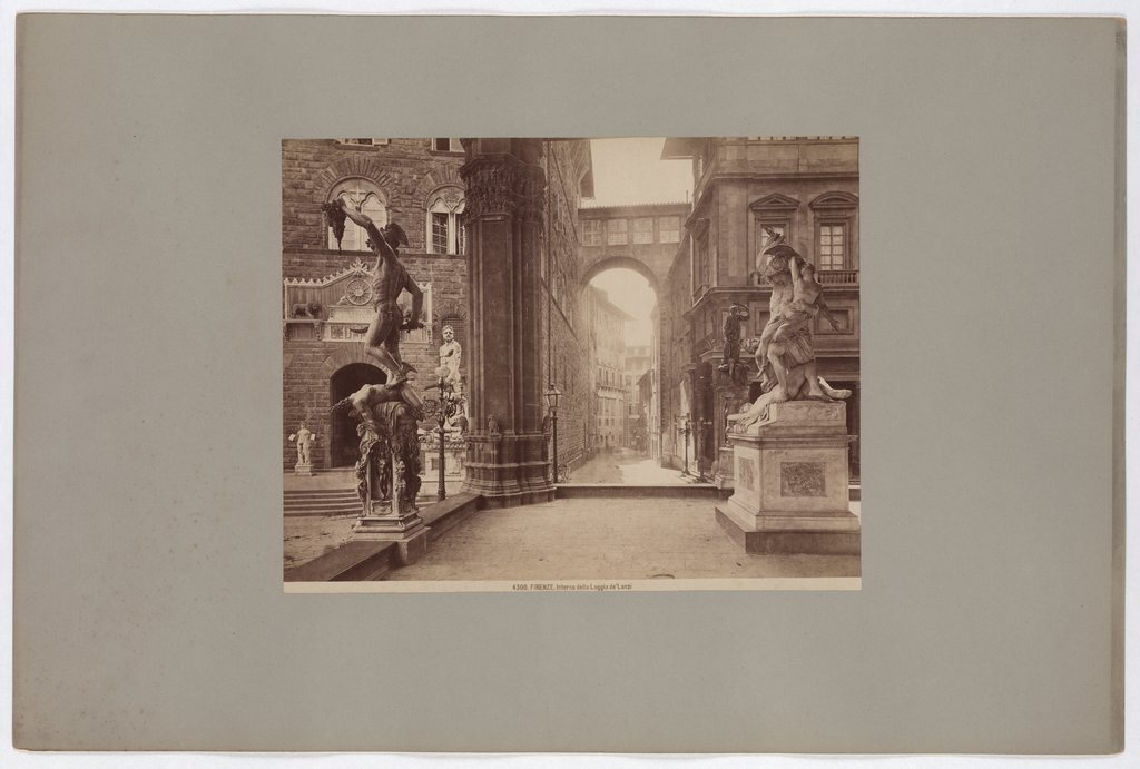 Florence: Interior of the Loggia de'Lanzi, No. 4300, Giacomo Brogi