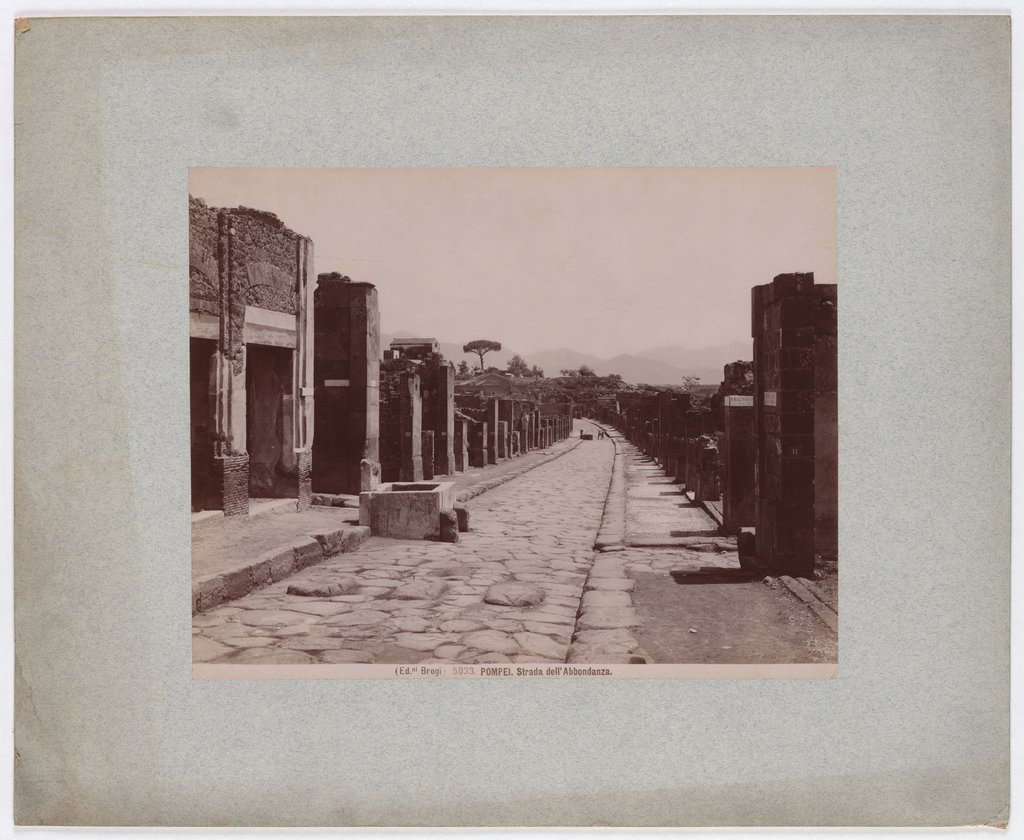 Pompeii: Road of Abundance, No. 5033, Giacomo Brogi