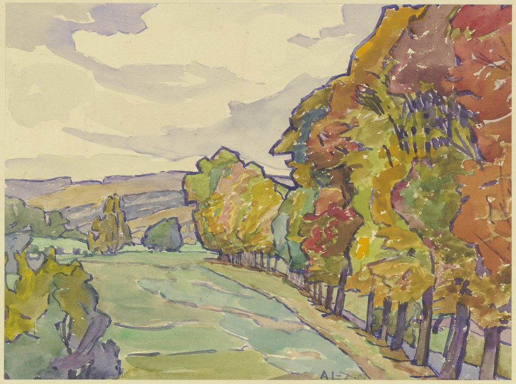 Country road in Hersfeld, Agnes Langenbeck-Zachariae