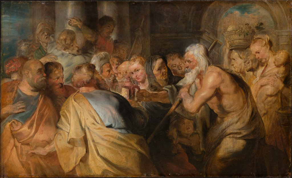 Diogenes Looking for an Honest Man, copy after Peter Paul Rubens
