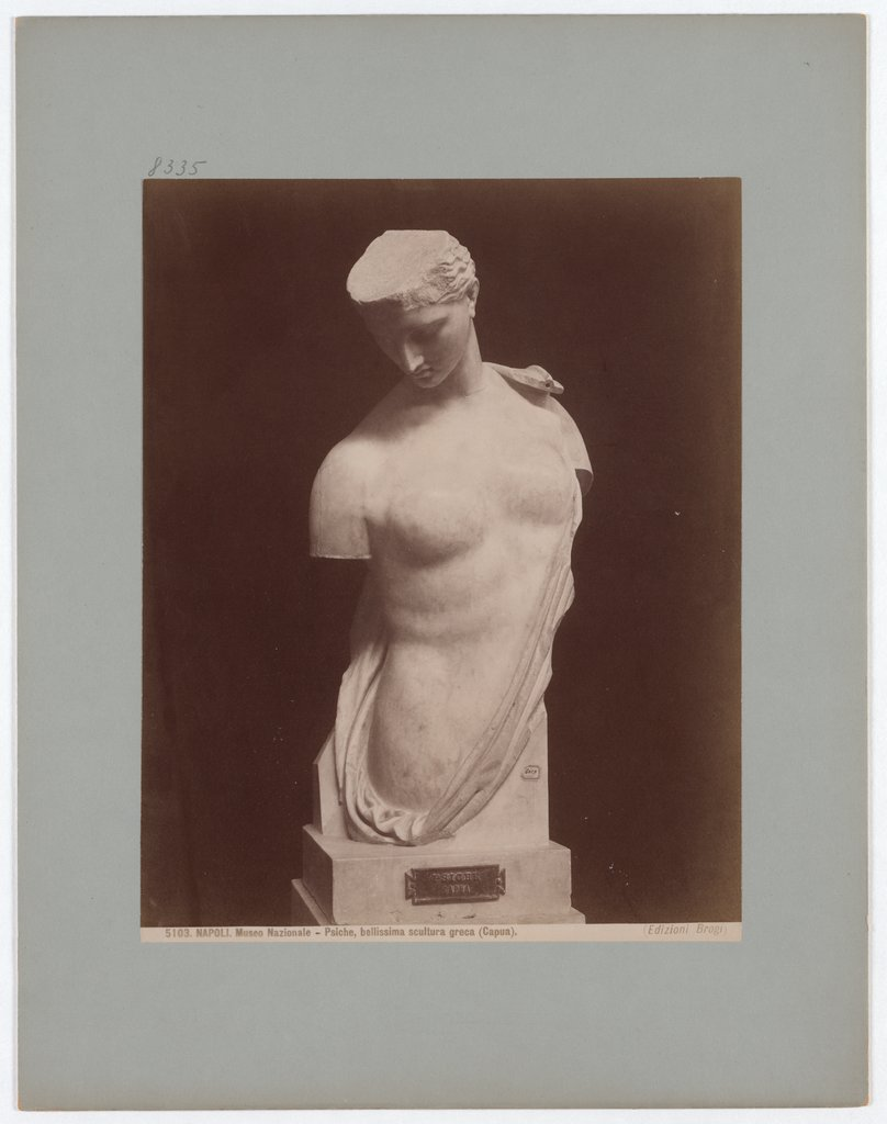 Naples: National Museum, Psyche, beautiful Greek sculpture (Capua), No. 5103, Giacomo Brogi