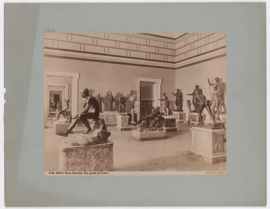 Naples: National Museum, Great Hall of the Bronzes, No. 5184, Giacomo Brogi