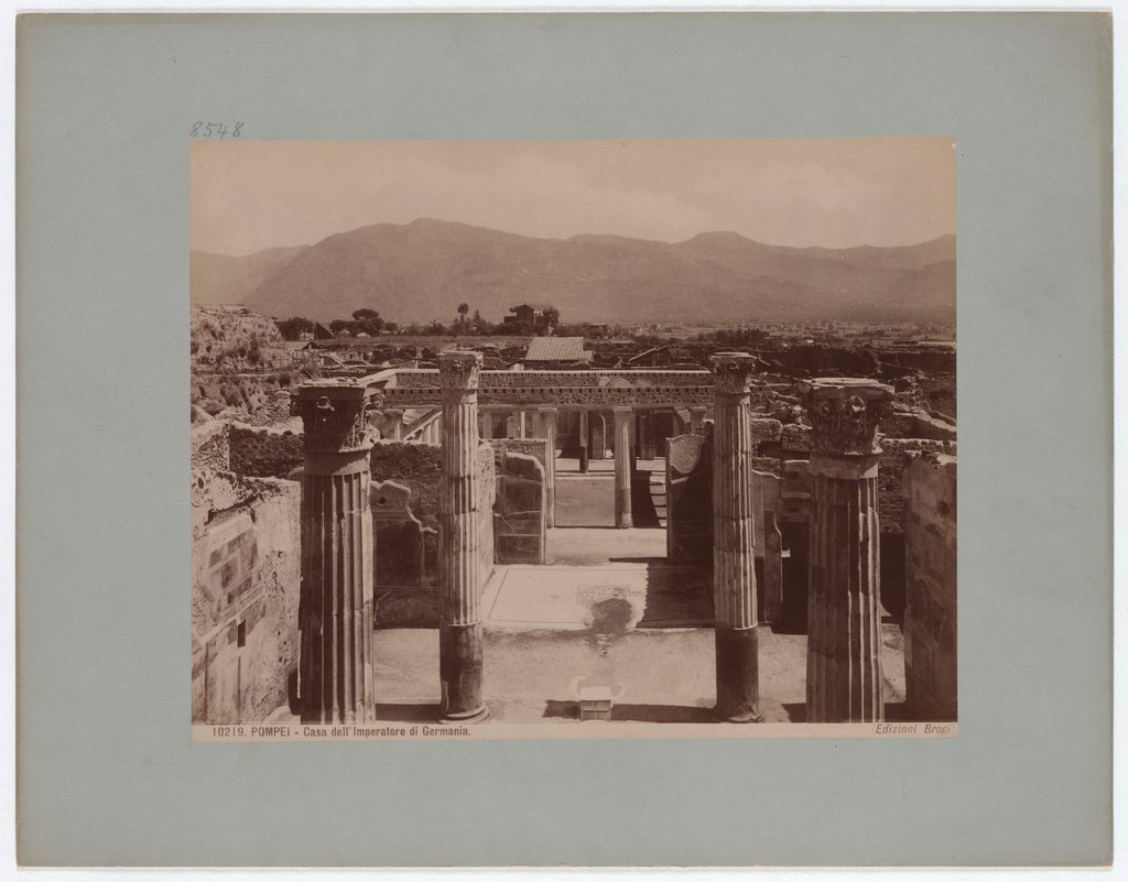 Pompeii: House of the Emperor of Germany, No. 10219, Giacomo Brogi