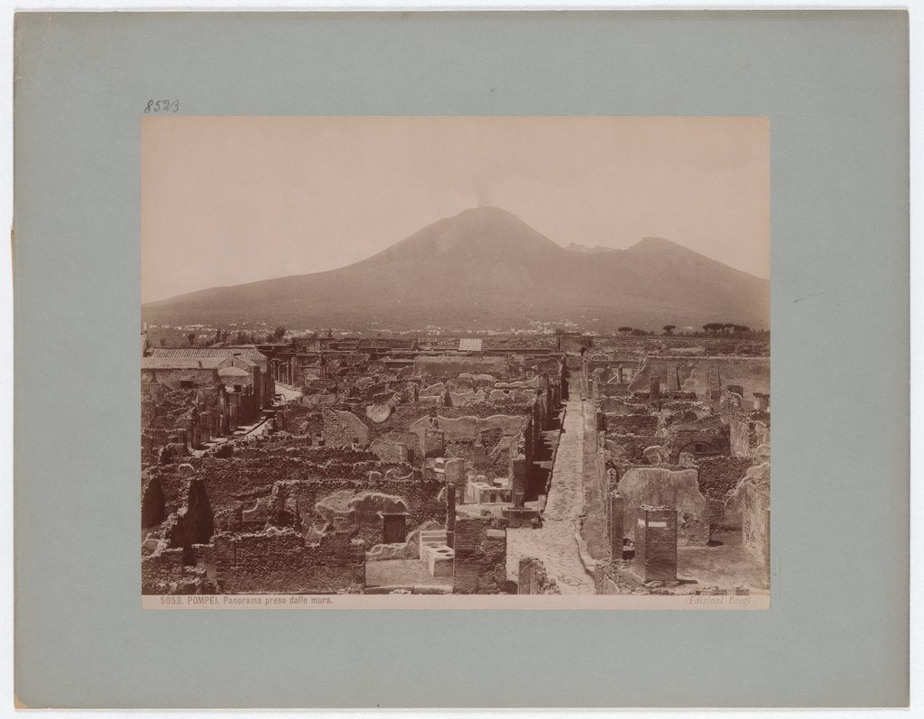 Pompeii: Panorama taken from the walls, No. 5053, Giacomo Brogi