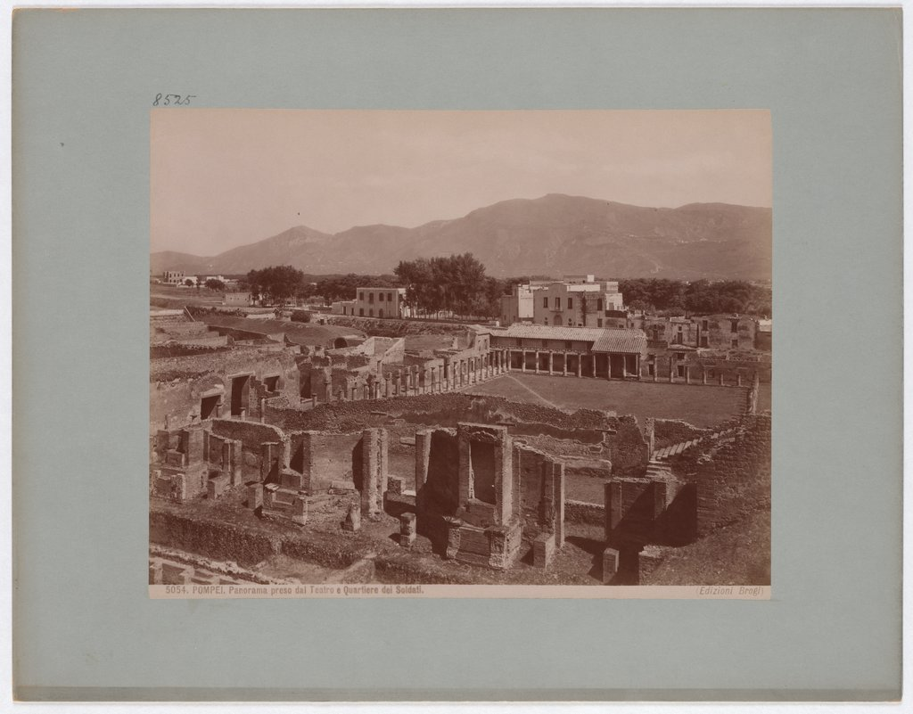 Pompeii: Panorama taken from the Theatre and Soldier's Quarter, No. 5054, Giacomo Brogi