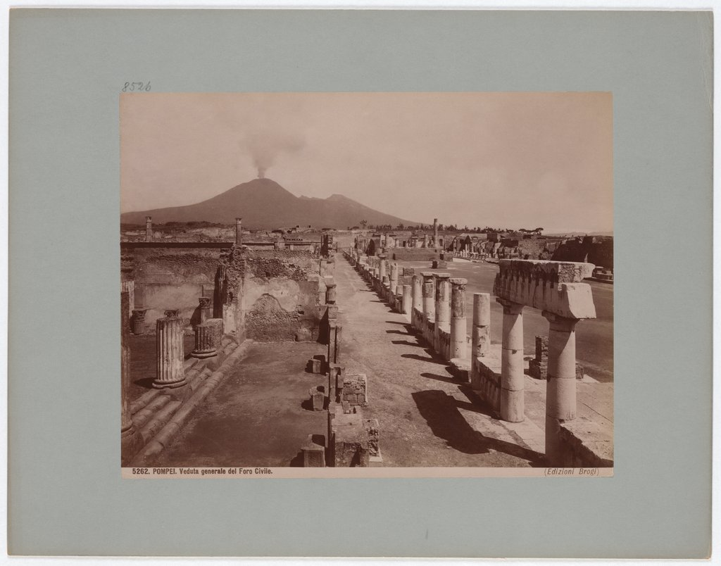 Pompeii: General view of the Civil Forum, No. 5262, Giacomo Brogi