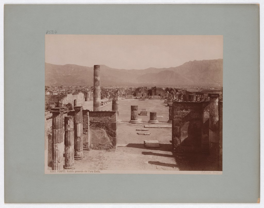 Pompeii: General view of the Civil Forum, No. 5263, Giacomo Brogi