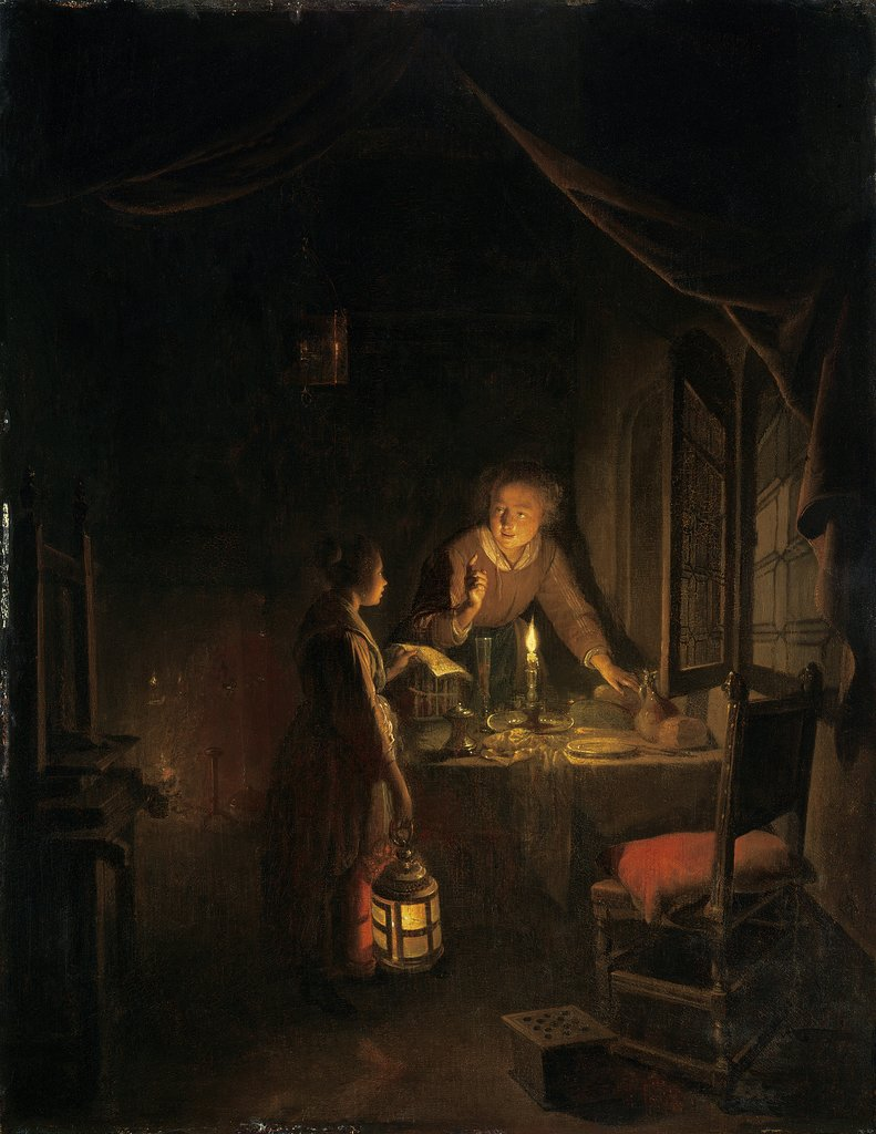 Woman Tidying the Supper Table, Gerrit Dou