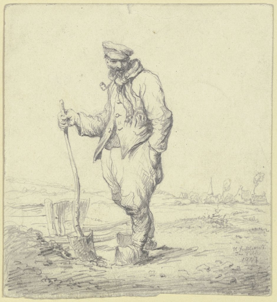 Old man with spade, Karl Luckhardt