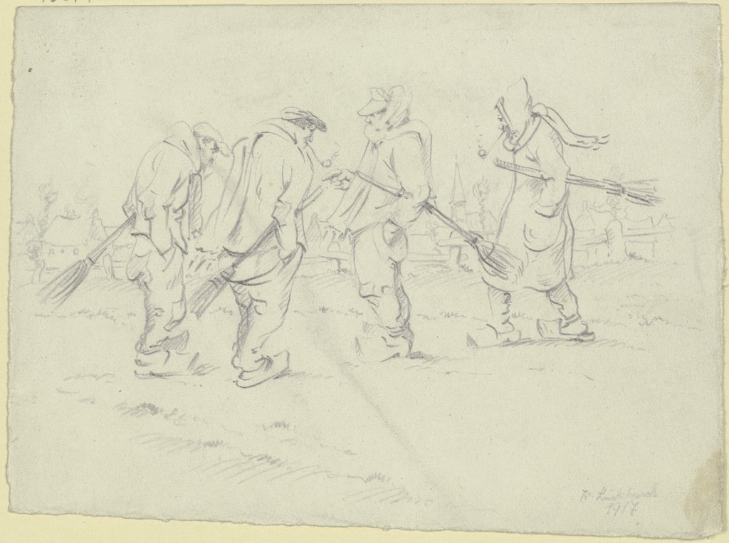 Four sweepers, Karl Luckhardt