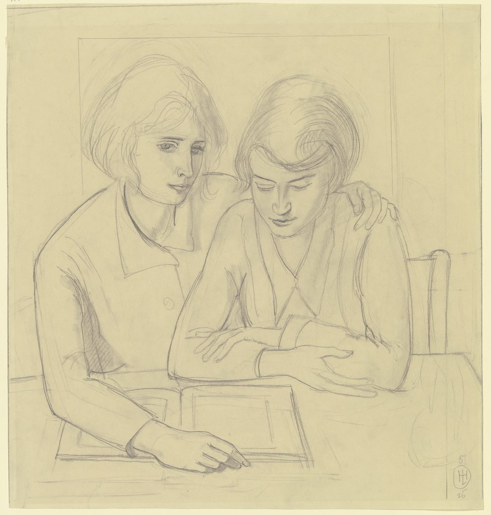 Two girls, Hermann Lismann