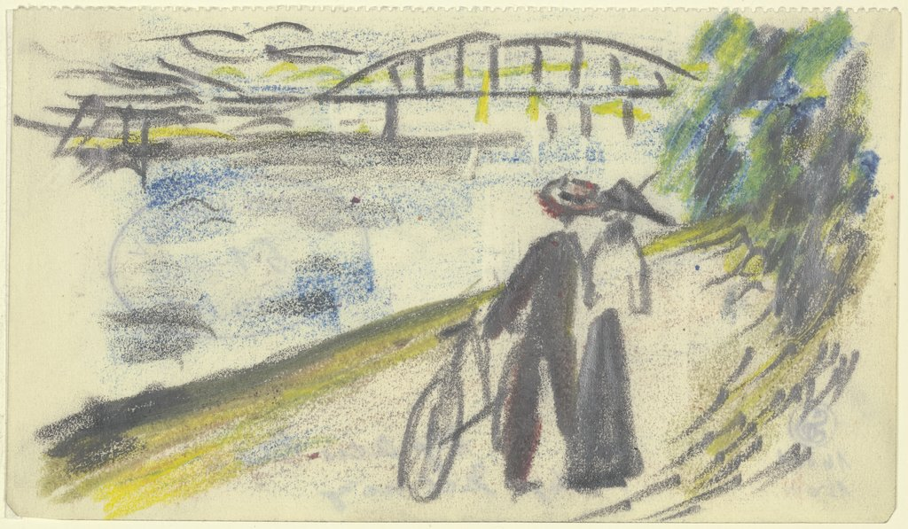 Path at the Rhine, August Macke