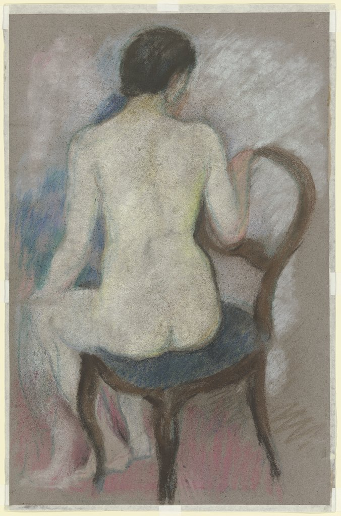 Nude on chair, August Macke