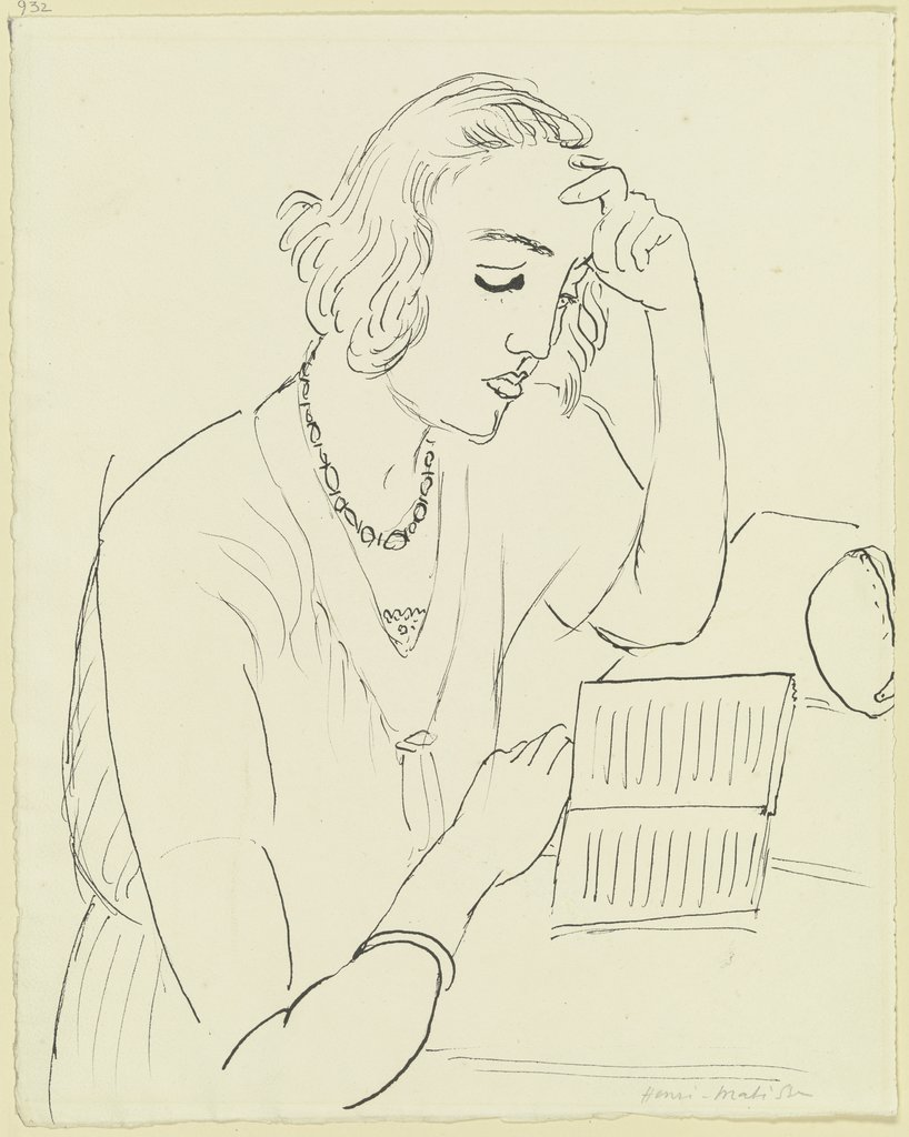 Reading woman, Henri Matisse