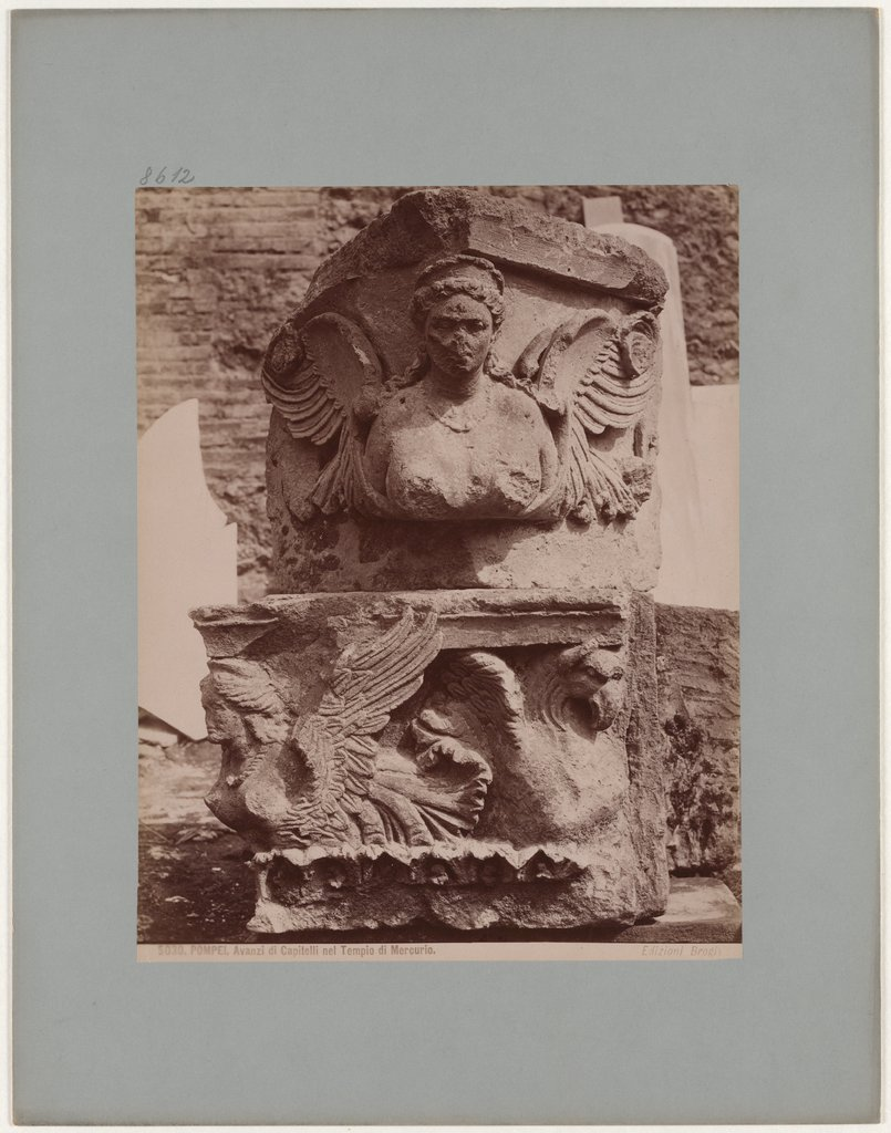 Pompeii: Leftovers of Capitals in the Temple of Mercury, No. 5030, Giacomo Brogi