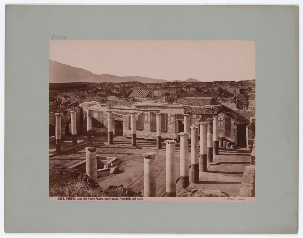 Pompeii: House of the New Faun, new excavations, reproduced in 1880, No. 5266, Giacomo Brogi