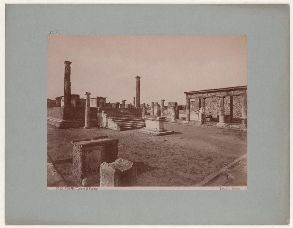 Pompeii: Temple of Apollo, No. 5022, Giacomo Brogi