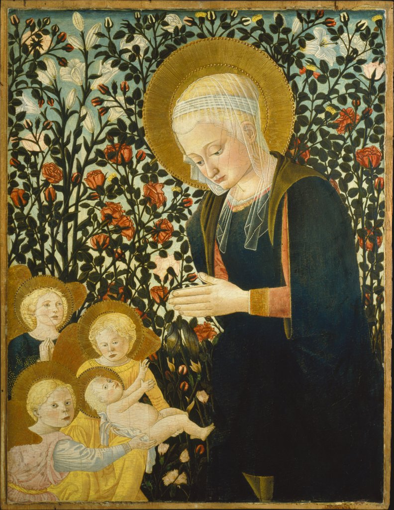 Madonna with Child and Angels, Pseudo-Pier Francesco Fiorentino (Pesellini-Lippi Imitator)