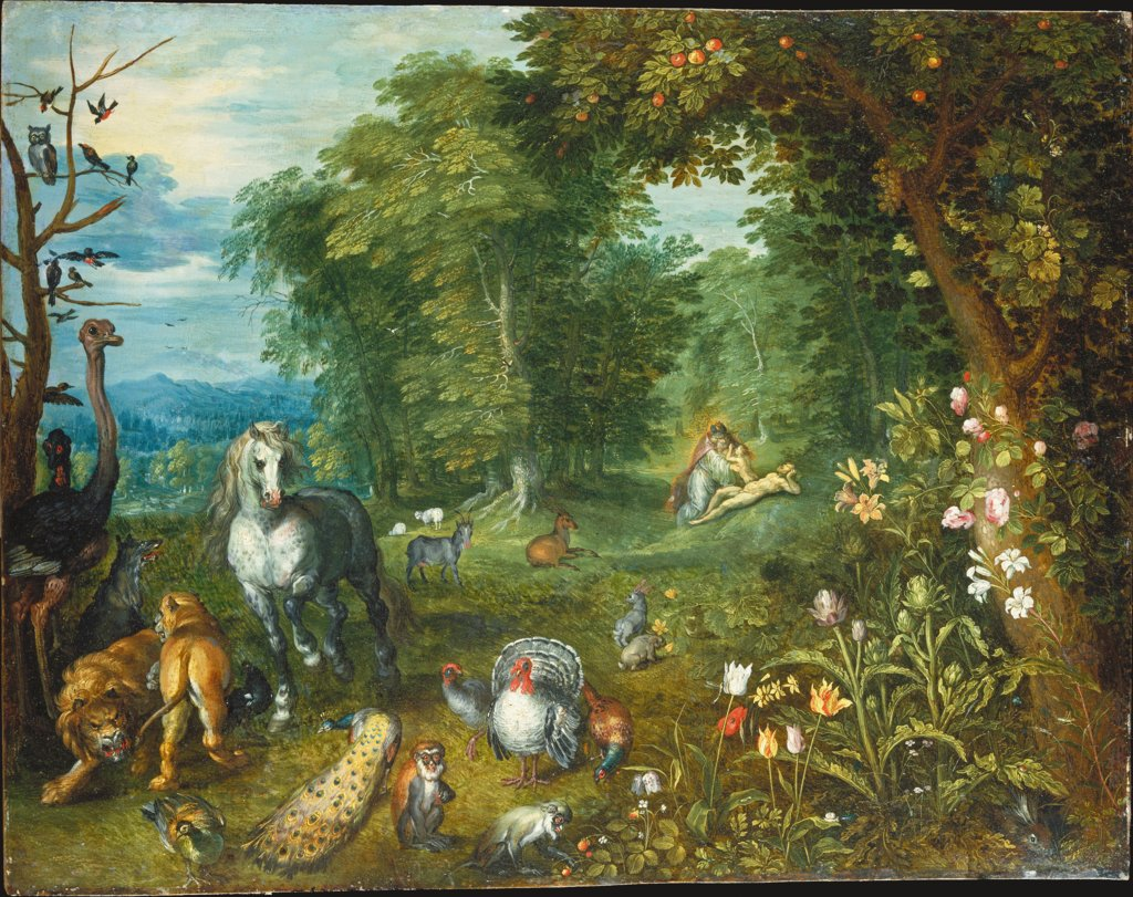 Paradise with the Creation of Eve, Jan Brueghel the Younger