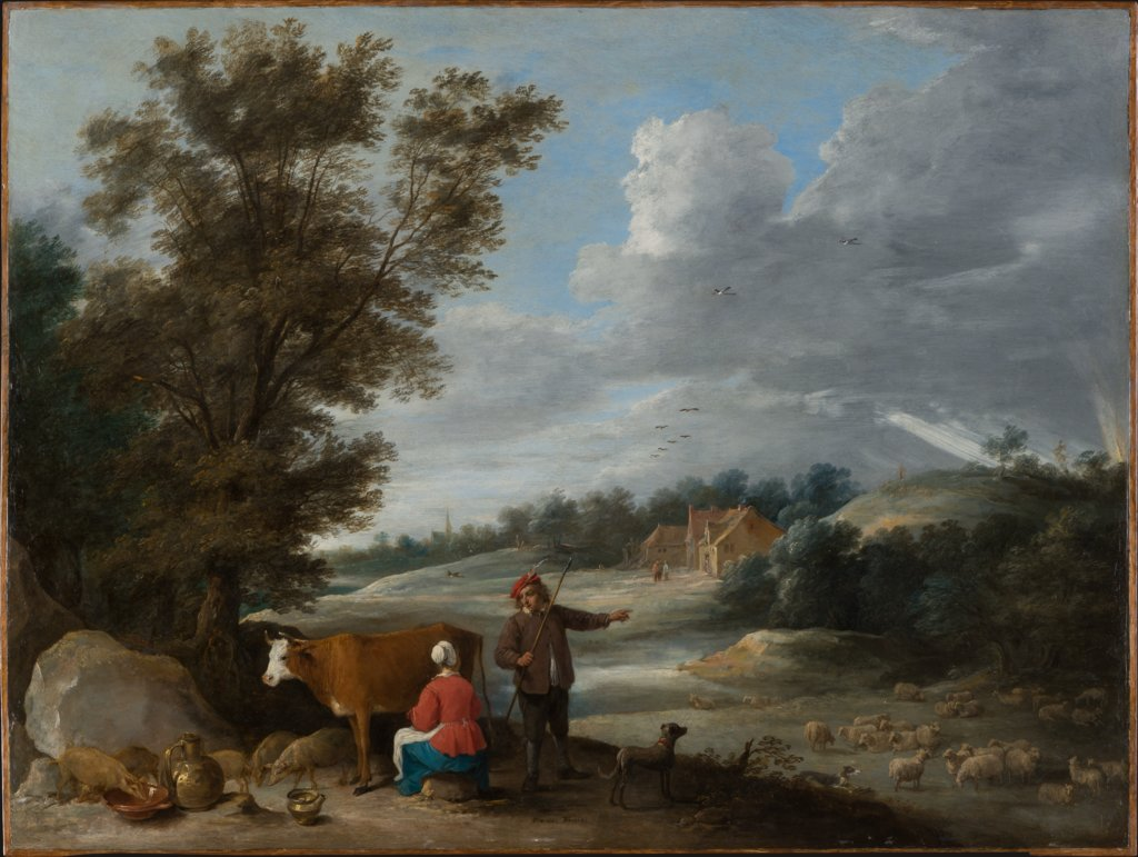 Landscape with Milkmaid and Shepherd, David Teniers the Younger