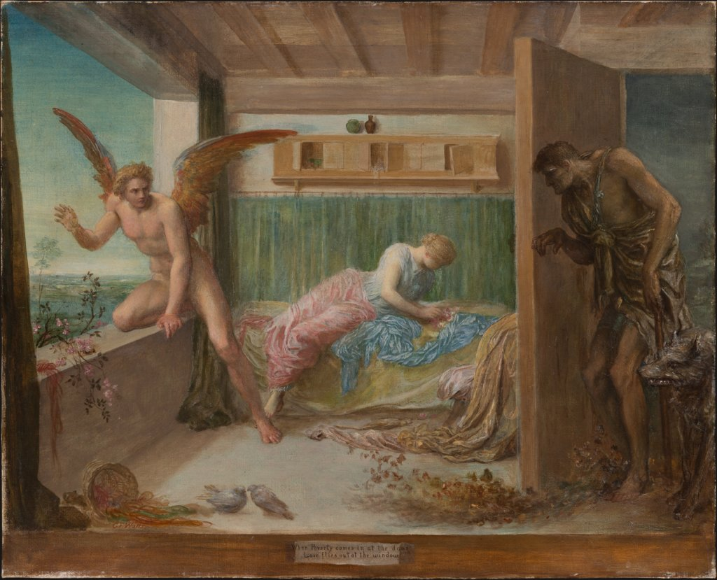When Poverty Comes in at the Door Love Flies out of the Window, George Frederick Watts