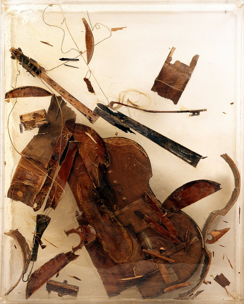 Untitled (Destroyed Double Bass), Arman