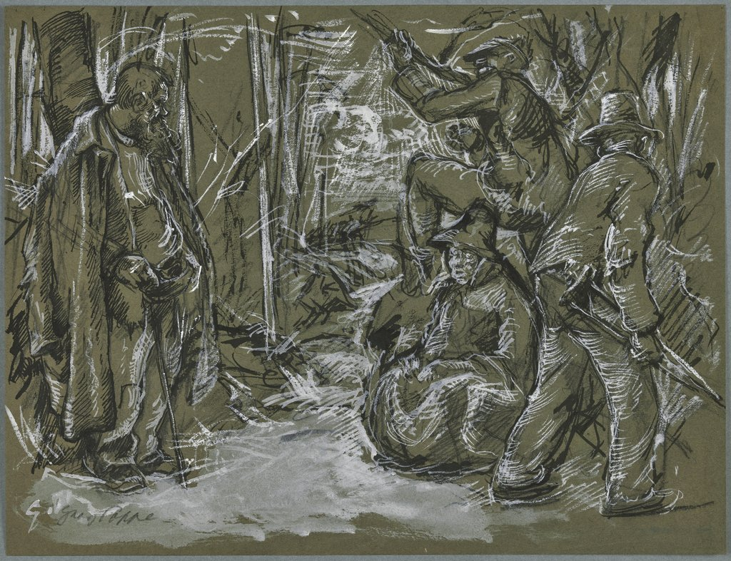 Group of beggars (?), Georg Poppe