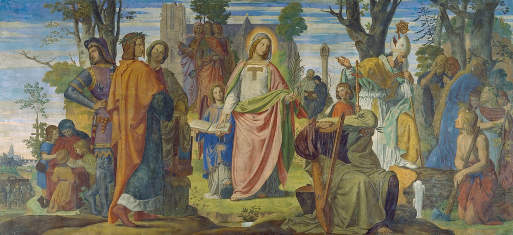 The Arts Being Introduced to Germany by Christianity, Philipp Veit