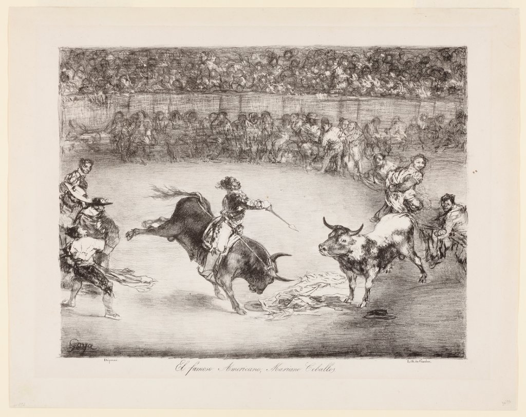 The famous American, Mariano Ceballos The Bulls of Bordeaux, Francisco de Goya
