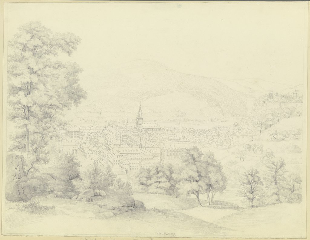View of Heidelberg, Friedrich Joseph Ehemant